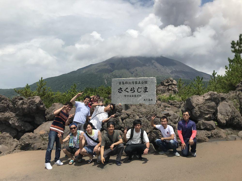 社員旅行,桜島